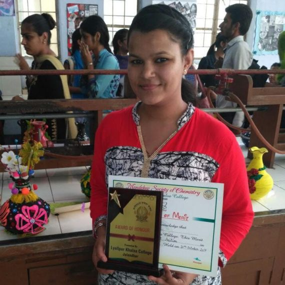 KNC student first in Pot Decoration competition