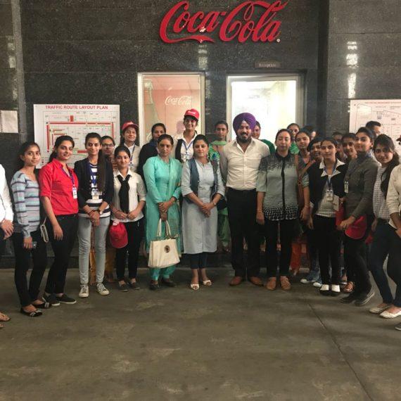 Industrial Visit to Coca-Cola Company