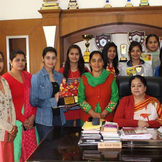 KNCW girls bag prizes in Hamdard Yaadgari Mela