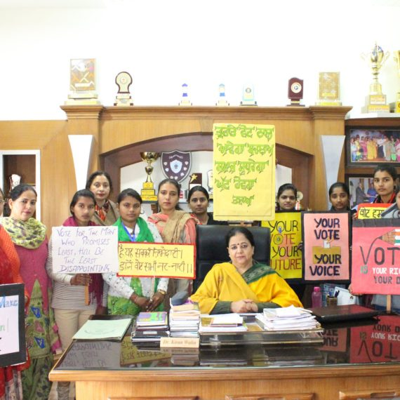Poster making competition held at KNCW