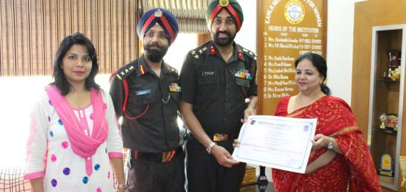 KNC honoured by NCC