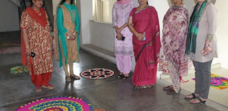 Rangoli Competition organises at Kamla Nehru College for Women