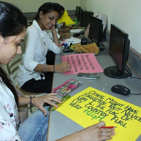 KNCW organizes Aptitude test and Poster Making competition