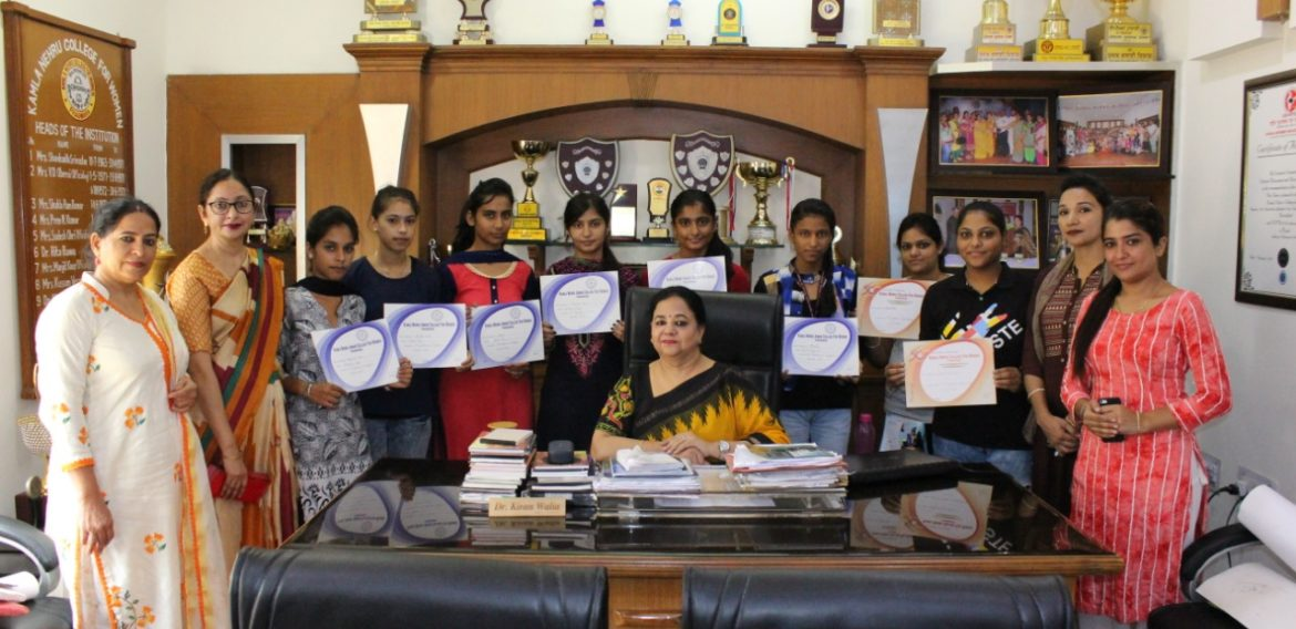 Rangoli and Poster making competitions organises at KNCW, Phagwara